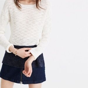 Madewell Eastbank Pullover Sweater Colorblock XS